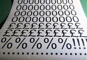"""1"""", 1 1/2"""",2"""", 3"""", 4"""", 5"""" Numbers Pricing Kit Self Adhesive Vinyl Stickers"""