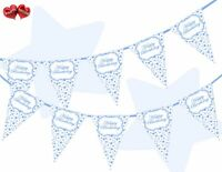 Blue Stars Happy Birthday Themed Bunting Banner 15 flags by PARTY DECOR