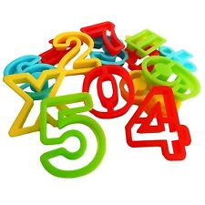 Dough Cookie Cutters Numbers with Math Symbols 15 piece Play Set Pack 60mm