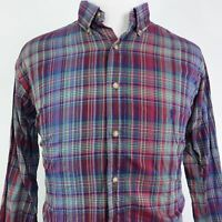 POLO RALPH LAUREN LONG SLEEVE PLAID BUTTON DOWN SHIRT MENS SIZE LT TALL