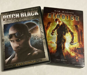 Riddick DVD Lot of 2 Movies / The Chronicles Of Riddick/ Pitch Black  Vin Diesel