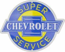 CHEVROLET Blechschild 60cm ! Corvette Camaro Trucks Chevy Service Impala Bel Air