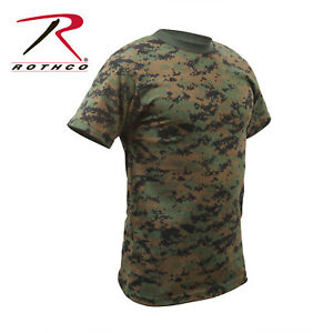 Rothco Woodland Digital Camouflage Cotton Polyester Short Sleeve T-Shirt Large