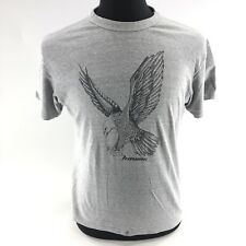 Vtg Hanes Single Stitch Grey T-Shirt Adult Large 42-44 Hawaii Eagle A1B
