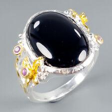 Vintage23ct+ Natural Spinel 925 Sterling Silver Ring Size 10/R111041