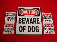 Beware Of Dog Security Warning Window or Yard Sign - Plus 4 Free Window Decals
