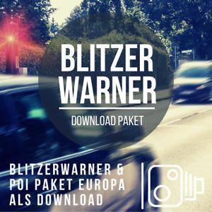 Blitzerwarner Download Paket passend für Seat Navi System & Navi System Plus