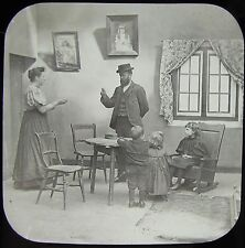 Glass Magic Lantern Slide PADDLE YOUR OWN CANOE NO9 C1890 VICTORIAN GROUP