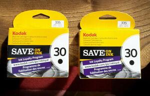 2x NEW SEALED Genuine/Original Kodak 30 Black Ink Cartridges