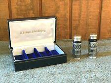 (2) Vintage/ Antique F.B.ROGERS SILVER COMPANY Salt & Pepper Shakers (Japan)
