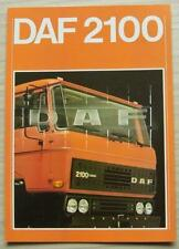 DAF 2100 TRUCKS Commercial Vehicle Sales Brochure Sept 1978 #EB-586-GB-3500-0978
