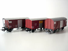 LOT 3 WAGONS COUVERTS SBB CFF - LILIPUT - ECHELLE H0