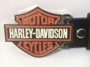 """Harley Davidson Buckle & Belt (All Sizes 30"""" – 50"""") HD Symbol Design"""