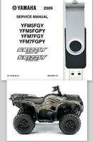2009 Yamaha Grizzly 550FI 700FI Owners Manual & Service Repair Manual OEM On USB