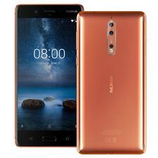 New Nokia 8 TA-1004 Dual Sim 4GB Ram 64GB Factory Unlocked - Glossy Copper