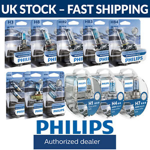 Philips WhiteVision Ultra Upgrade Car Bulbs - 12 Popular Fitting Types