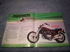 "1984 Honda V30 Magna Vintage 2pg Motorcycle Ad ""We Developed a Mean Streak"""