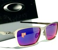 NEW* Oakley TINCAN Chrome Satin w POLARIZED + Red Iridium Sunglass 4082-08