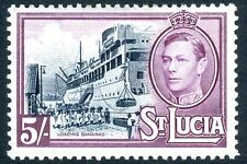 ST LUCIA-1938-48 5/- Black & Mauve Sg 137 MOUNTED MINT V17414