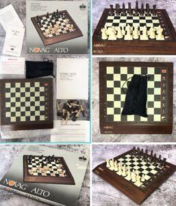 1980s Novag Alto Electronic Computer Chess Set Excellent Condition Wood Effect