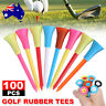 100Pack 83mm Golf Tees Plastic With Rubber Cushion Top High Quality Multi Color