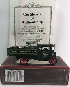 Matchbox Models Of Yesteryear 1922 Foden Steam Lorry 'Ruth' w/asst. Railway itms
