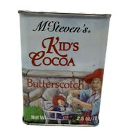 VTG  MCSTEVEN'S KID'S COCOA BUTTERSCOTCH EMPTY 2.5 OZ TIN CONTAINER Raggedy Ann