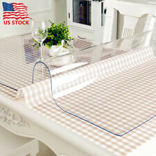 PVC Clear Transparent Waterproof Tablecloth Washable Dining-table Desk Protector