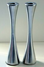 MID CENTURY MODERN STYLISH METAL CANDLESTICK CANDLE HOLDERS 1950- 1970s