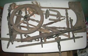 Early Primitive Spinning Wheel Parts