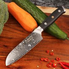 Kitchen 5 inch Santoku Knife Damascus Steel Chef Cutlery Knife Utility Knife