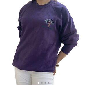 Vintage 90s Russell Embroidered Nature Sweatshirt Size Men's Medium