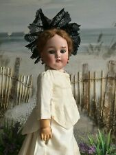 ANTIQUE SIMON & HALBIG BISQUE HEAD DOLL BEAUTIFUL YOUNG LADY c1890-1910
