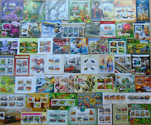 500 different MINI & SOUV. SHEETS Composition Lot Updated 2021