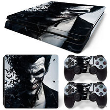 PS4 Slim Playstation 4 Console Skin Decal Sticker The Joker Custom Design Set