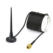 SMA Antenne 3.5dBi Wlan mit Magnet Standfuß Kabel für Bluetooth Wifi Funknetze