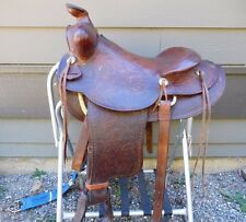 "15.5"" Hereford Tex Tan Vintage Western Saddle EZ Rig Brass Rigging"