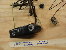 1963 Mercury Monterey INTERIOR TRUNK LIGHT LAMP WIRE HARNESS & SWITCH **TESTED**