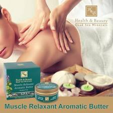 Muscle Relaxant Aromatic Butter Pain Relief Organic Oils H&B Dead Sea Minerals