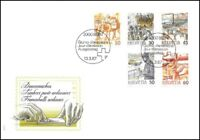 FDC Suisse - Timbres poste ordinaires 10.3.1987