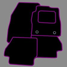 RENAULT SCENIC 2009 ONWARDS TAILORED BLACK CAR MATS WITH PURPLE TRIM