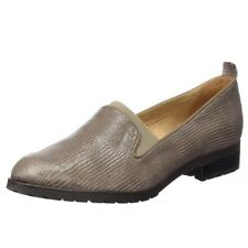 Womens Caprice Shoes Taupe Brown Reptile Loafers New Collection Natural Leather