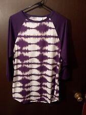 LuLaRoe BNWT XL Randy Tie dye PURPLE Awesome UNICORN print