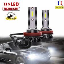 2x 55W H8 6000K LED COB Voiture Phare Lampe Feu Headlight Conversion Ampoule DRL