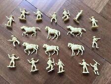 PLASTIC HORSES AND COWBOYS JOB LOT war gaming