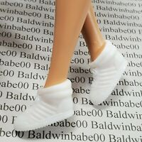 SHOES ~ MATTEL BARBIE DOLL WHITE PLASTIC HI-TOP TENNIS SNEAKERS ACCESSORY