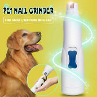 Electric Dog Pet Nail Grinder Cat Nail Claw Paw Toe Clipper Trimmer Grooming Kit