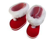 Santa Claus Boots Red Christmas Stocking with White Kunstfellimitat 2 Sizes