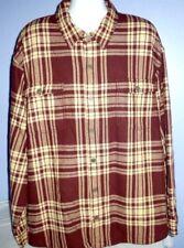 Men's Duluth Trading Co. Brown/Beige Plaid Fleece Lined Flapjack Jacket 3XL