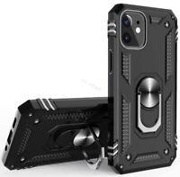 For iPhone 12 mini Pro Max Military Grade Dual Layer Case Ring Kickstand Cover